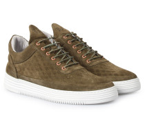 Sneakers Low Top Quilted Diamond Green