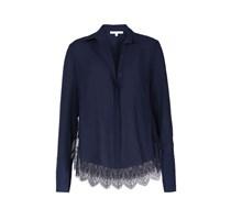 PATRIZIA PEPE Bluse Mit Spitze Damen Farbe: dunkelblau