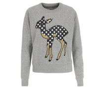 Sweater mit Bambi-Applikation Grau/Schwarz