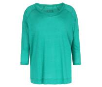 Leinen-Langarmshirt Apple Green