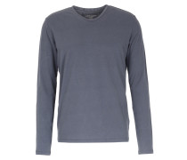 Baumwoll-langarmshirt Mit Cashmere Ombra