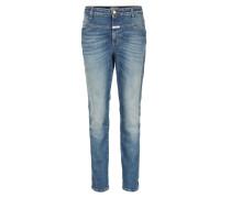 Girlfriend-jeans Mid Waist Cropped Worker