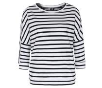 Baumwoll-sweater Weiß/dunkeblau