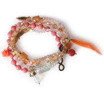 Armband Mit Glasperlen Coral