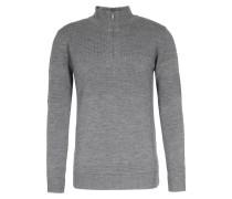 Merinowoll-pullover Mit Zipper Grey