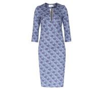 Kleid Lavinia Mit Schwäne-print Mittelblau