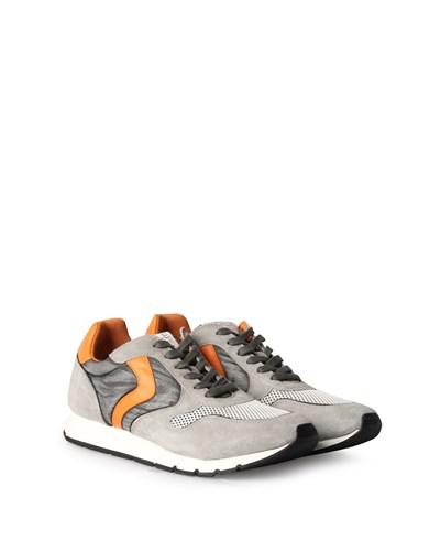 Sneakers Liam Velours Mesh Mix Grigio Blanco