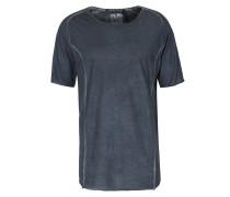 Baumwoll-shirt Im Vintage-look Dunkelblau