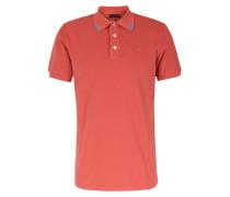 Baumwoll-Poloshirt Tomatenrot