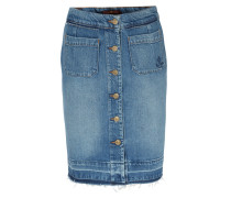 Jeansrock Midi Skirt In Mittelblau