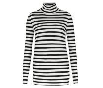 Gestreiftes Rollkragen-langarm-shirt T-neck