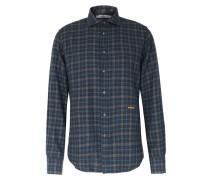Kariertes Flanellhemd aus Baumwolle Blue/Gray