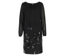 Kleid Mit Spitzen- Und Paillettendetails Black