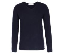 Cashmere-pullover Mit V-ausschnitt Denim