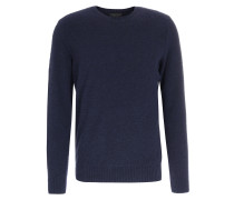 Pullover im Woll-Mix Navy