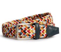 Gürtel aus geflochtenen Textil-Bändern Multicolor