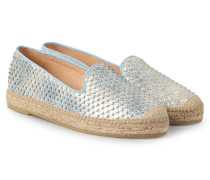 Leder-espadrilles Dora In Snake-optik