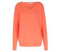 V-neck Cashmere Pullover Living Coral