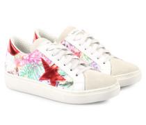 Sneakers mit Tropischem Print und Stickerei