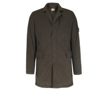 Long Jacket Aus Stretch-nylon Olive