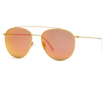 Sonnenbrille Venice Matt Gold Orange Mirrored