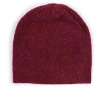 Beanie-Mütze im Woll-Mix Merlot