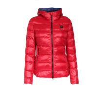 Light-Daunenjacke mit Quersteppung in Rot