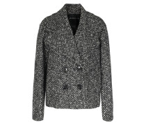 Woll-mix Cabanjacke Black/white