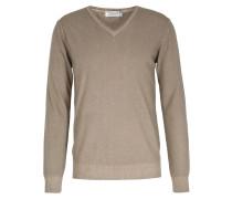 Cashmere-pullover Mit V-ausschnitt Beige
