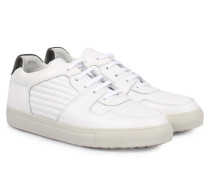 Ledersneaker Low-Top White