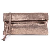 Foldover-clutch Mit Metallic-reptilienprägung Cipria