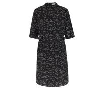 Viskose-kleid Mit Mikro-print