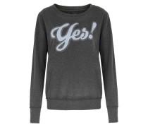 Sweater Mit Chenille-applikation Anthra