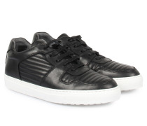 Ledersneaker Low-Top Black
