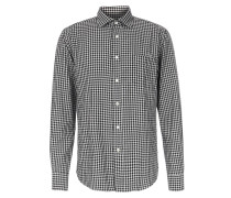Slim-Fit Flanellhemd Paul Kariert Black/Grey