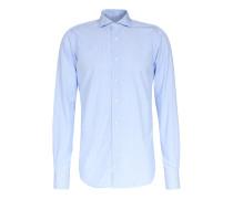 Gestreiftes Business-Hemd Davis Blau/Weiß