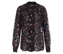 Bluse mit floralem Print Schwarz