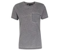 Baumwoll T-shirt Runo Mit Brusttasche Grey