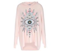 Leichter Sweater Mit Federnprint Pink Champagne