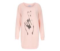 Leichtes Sweatkleid Bel mit Print Pink Champagne