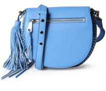 Ledertasche Astor Saddle Bag Denim Blue Silver