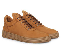 Sneakers Low Top All Leather Cacao