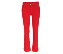 Cropped Boot Unrolled 7/8-jeans Slim Illusion Red