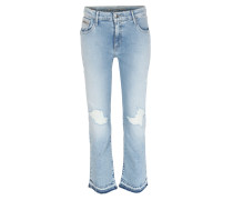 Distressed Cropped Jeans Joto Blue