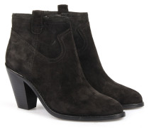 Veloursleder-ankle-boots Black