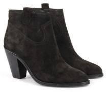 Veloursleder-ankle-boots Black
