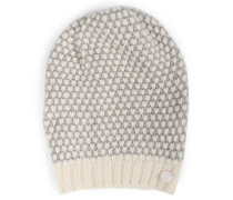 Beanie-mütze Aus Merino-alpaka Mix White Grey