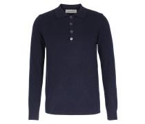 Cashmere Pullover mit Knopfleiste Denim