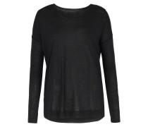 Langarmshirt Aus Cashmere-modal Black