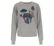 Sweater mit Pailletten Mittelgrau